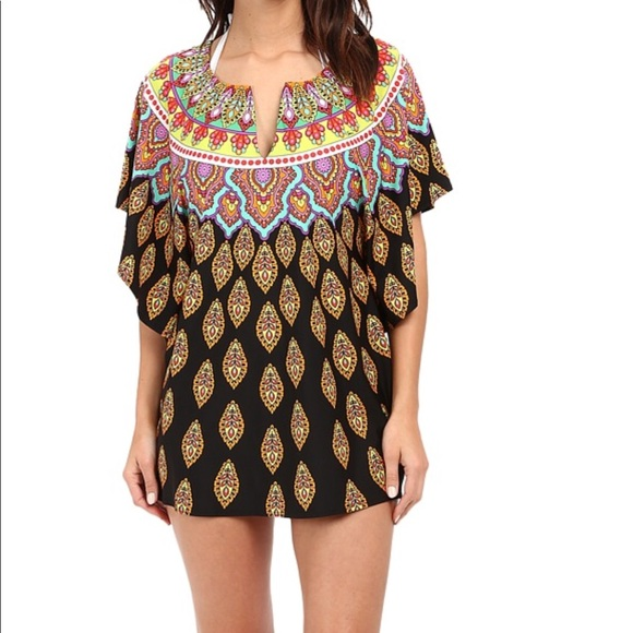 27589afd9b12e Trina Turk Swim | New Coverup Or Short Caftan Nwt | Poshmark